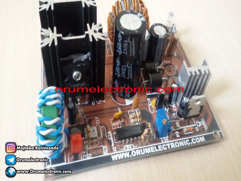مبدل کاهنده ولتاژ باک 10 آمپر