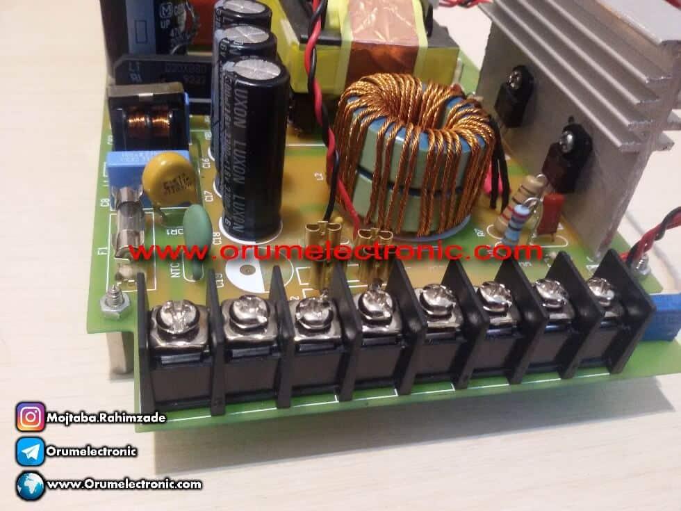منبع تغذیه سوئیچینگ 12 ولت 30 آمپر فن دار