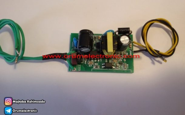Switching power supply of 15 volts 220 mA